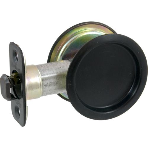 Kwikset 334 11P Round Passage Pocket Door Lock Venetian Bronze Finish