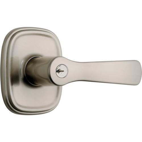 Brinks 23013-119 Alwood Keyed Entry Push Pull Rotate Lockset with Kwikset Keyway Satin Nickel Finish