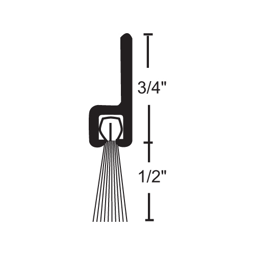 NGP B606A96 National Guard Products Weatherstrip