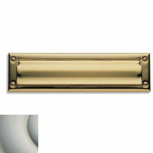 Baldwin 0014150 Letter Box Plate Satin Nickel Finish