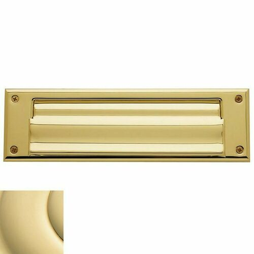 Baldwin 0017031 Letter Box Plate Unlacquered Brass Finish