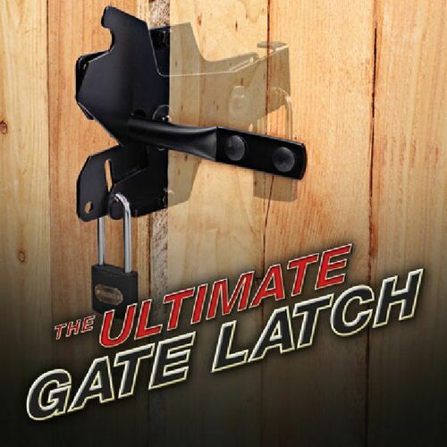 Perfect Products 01260 Ultimate Gate Latch Black Finish